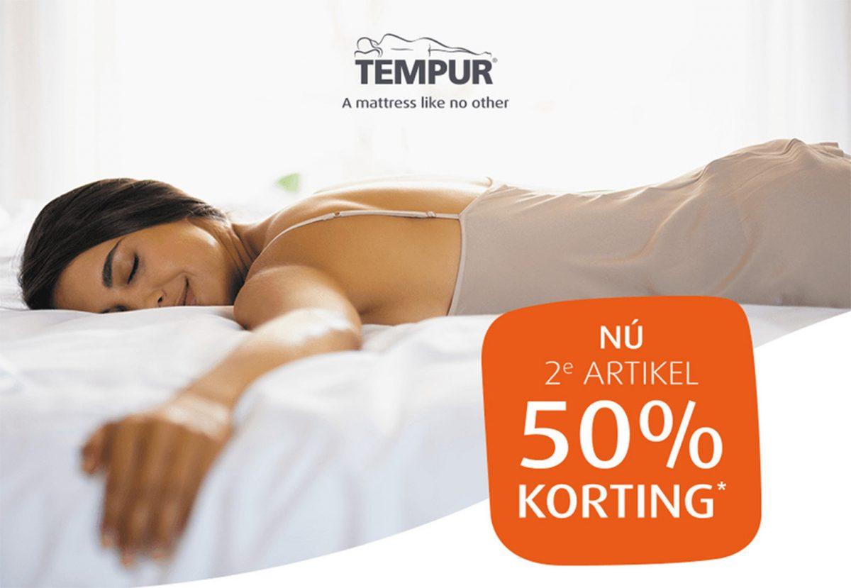 2e artikel 50% korting   Tempur