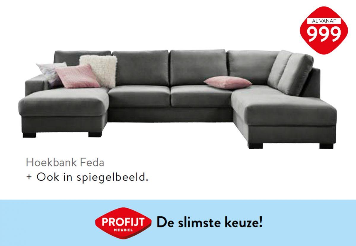 Hoekbank Feda   Profijt Meubel