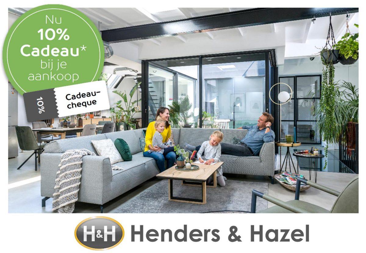 10% over uw aankoopwaarde cadeau bij Henders &#038...