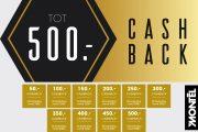 Tot €500,- Cashback bij Montèl