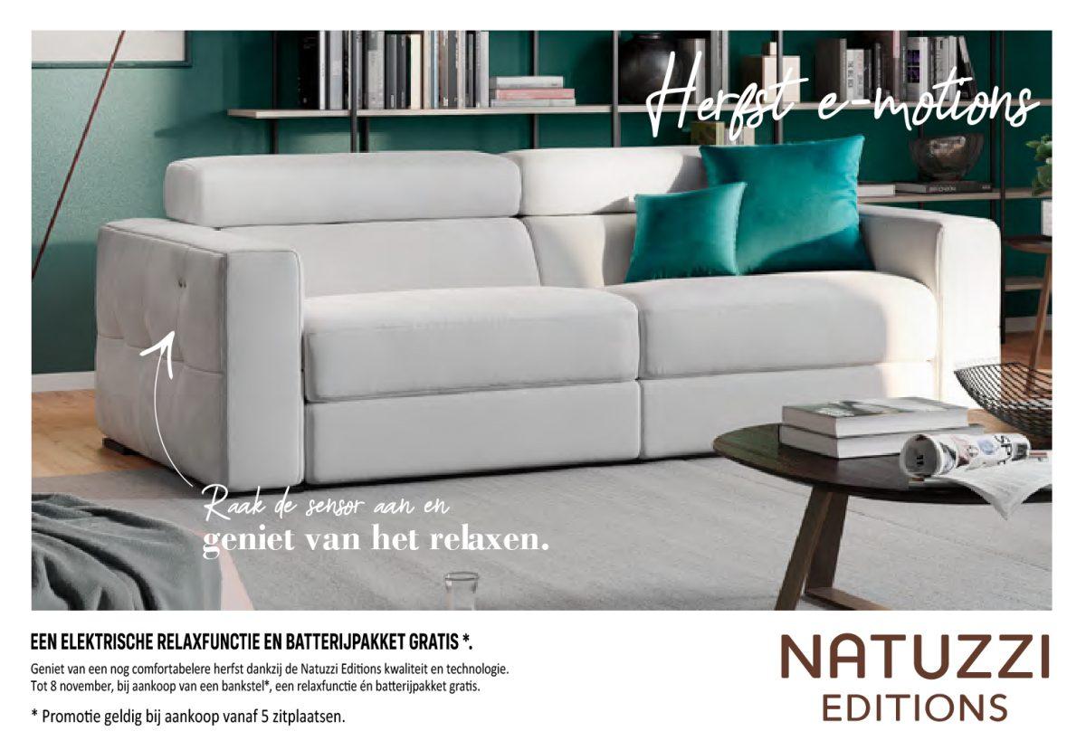 Natuzzi Editions | Gratis relaxfunctie + batterijp...