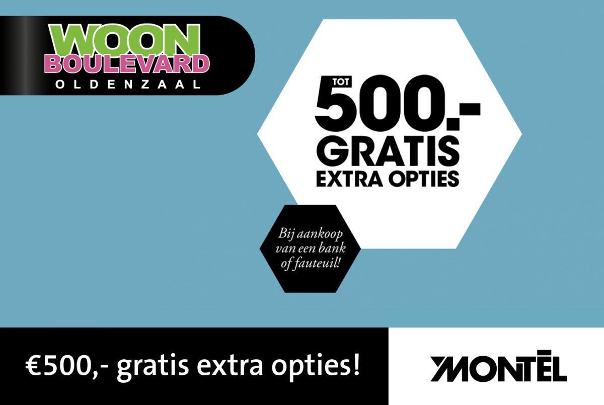 Tot € 500,- GRATIS extra opties bij Montèl!
