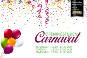 Carnavalsweekend geopend!