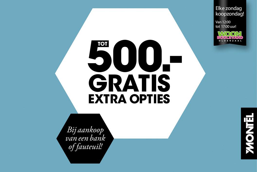 Tot 500,- gratis extra opties bij Montèl