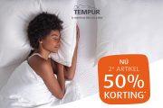50% korting op het 2e artikel | Tempur