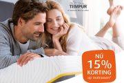 15% korting op matrassen | Tempur