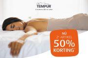 2E ARTIKEL 50% KORTING | TEMPUR