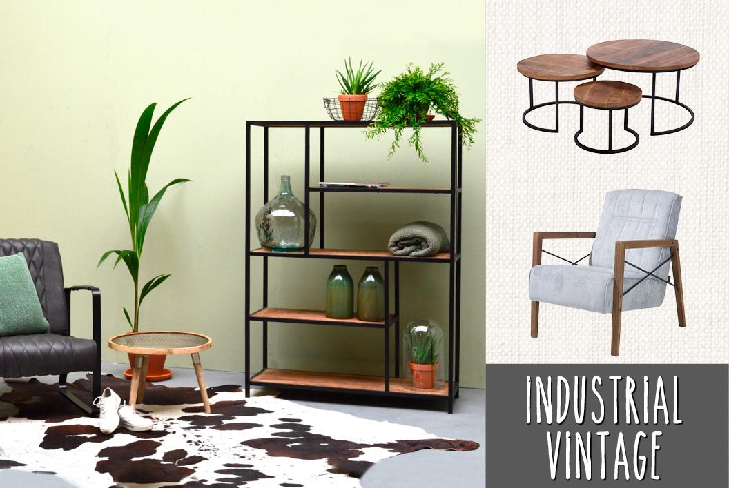 Van Gils Meubels : Industrial vintage: donkere kleuren en stoere materialen